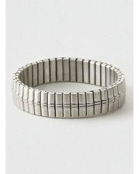 Topman Stainless Steel Stretch Bracelet - Lyst