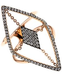 Diane Kordas Diamond Rosegold Floating Ring - Lyst