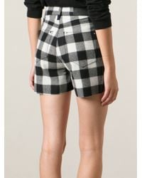 Ermanno Scervino Unfinished Hem Checked Shorts - Lyst