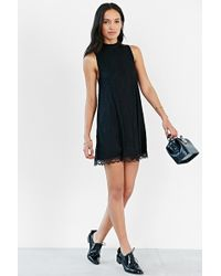 Cooperative - Scallop-Hem Lace Frock Dress - Lyst
