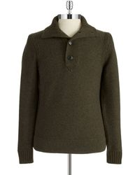 Hugo Boss Ribbed Four Button Sweater - Lyst