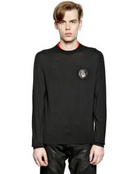 Givenchy Rottweiler Patch Double Collar Sweater - Lyst