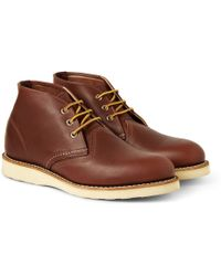 Red Wing Work Chukka Rubbersoled Leather Boots - Lyst