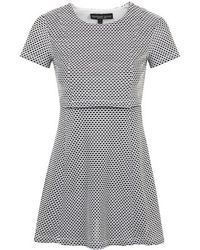 Topshop  Jacquard Overlay Dress - Lyst