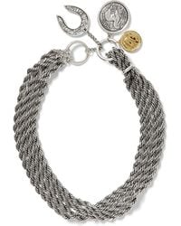 Giles & Brother Rope Chain Coin Necklace - Lyst