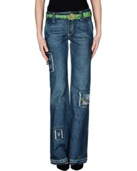 Ermanno Scervino Denim Trousers blue - Lyst