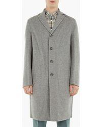 Acne | Grey Cashmere-blend 'charlie' Coat | Lyst