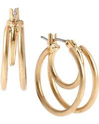 Kenneth Cole | Double Loop Hoop Earrings | Lyst