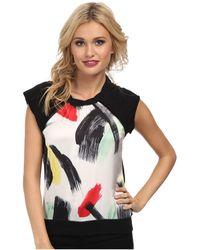 Sam Edelman Embellished Front Raglan Back Zip Sweatshirt - Lyst