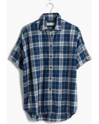 Madewell Courier Shirt In Blue Plaid - Lyst