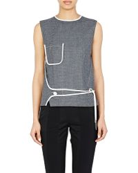 Paco Rabanne Wrap-Panel Sleeveless Top gray - Lyst