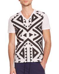 Versace Studded Geometric-Print Tee - Lyst