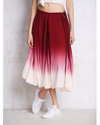 Free People Full Of Love Convertible Skirt purple - Lyst