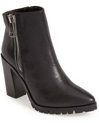 Steve Madden Women'S 'Koraa' Leather Bootie - Lyst