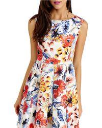 Donna Morgan Floral Print A-Line Dress - Lyst