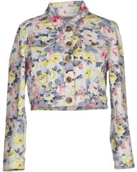 Miu Miu Multicolor Denim Outerwear - Lyst