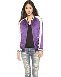 McQ by Alexander McQueen Quilted Bomber Figaran - Lyst