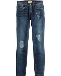 Current/Elliott Ankle Skinny Jeans - Lyst