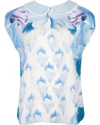 Ted Baker Damya Photo Pansy Printed Top - Lyst