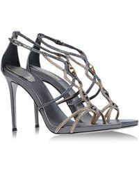 Rene Caovilla Sandals gray - Lyst
