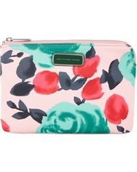 Marc By Marc Jacobs Floral Jerrie Rose Neoprene Clutch - Lyst