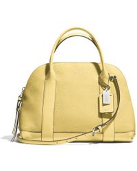 Coach Bleecker Preston Satchel in Pebbled Leather - Lyst