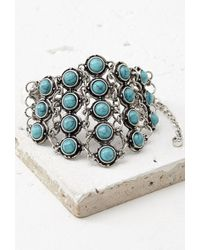 Forever 21 Faux Turquoise Bracelet - Lyst
