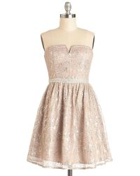 Minuet Dba Audrea Inc In Glint Condition Dress in Champagne - Lyst
