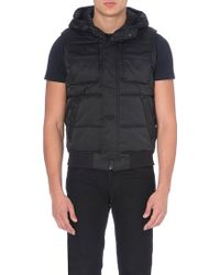 G-star Raw Hooded Gilet Black - Lyst