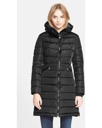 Moncler 'Flammette' Long Hooded Down Coat black - Lyst