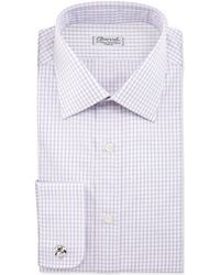 Charvet Check French Cuff Dress Shirt - Lyst