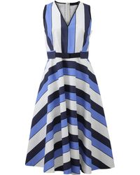 Piazza Sempione Striped Print Dress - Lyst
