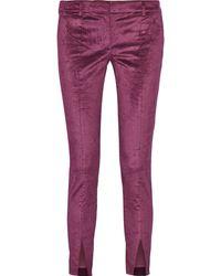 Tibi Velvet Skinny Pants - Lyst