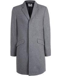 Topman   Wool Blend Overcoat   Lyst