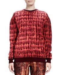 Stella McCartney Longsleeve Quilted Jacquard Sweatshirt - Lyst