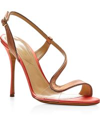 Nicholas Kirkwood Satin and Pvc Sandals - Lyst