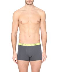 Calvin Klein Logo Waistband Trunks - For Men - Lyst