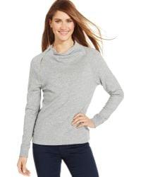 Calvin Klein Jeans Long Sleeve Mock Turtleneck Top - Lyst