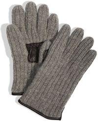 DKNY Leather Palm Glove - Lyst