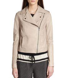 Vince Vintage Leather Moto Jacket - Lyst
