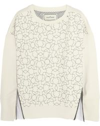e6ea4e9442 By Malene Birger - Niddia Embroidered Cottonjersey Sweatshirt - Lyst