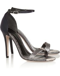 Alexander McQueen Python and Leather Sandals - Lyst