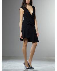 Patrizia Pepe Short Dress in Viscose Crepè Stretch - Lyst