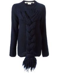 Comme Des Garçons Braid Detail Sweater - Lyst