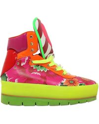 Manish Arora 70mm Flower Leather High Top Sneakers - Lyst