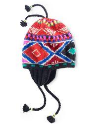 Polo Ralph Lauren Patterned Wool Cap - Lyst