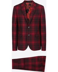 Valentino | Red And Black Checked Jacket | Lyst