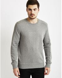 Calvin Klein | Jeans Jaylon Embossed Sweatshirt Grey | Lyst