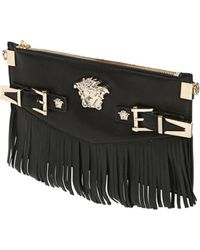 Versace Palazzo Fringed Nappa Leather Bag - Lyst