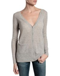 Subtle Luxury High Low Vneck Cardigan Sweater - Lyst